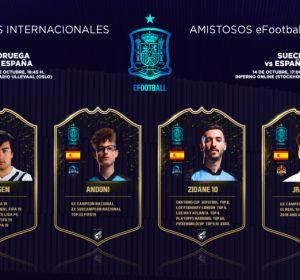 Gravesen, AndoniiPM, Zidane10 y JRALion, la Selección Española eFootball
