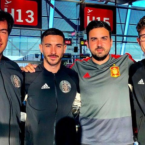 La Selección Española de eFootball con Gravesen, AndoniiPM, Zidane10 y JRA Lion viaja con La Roja