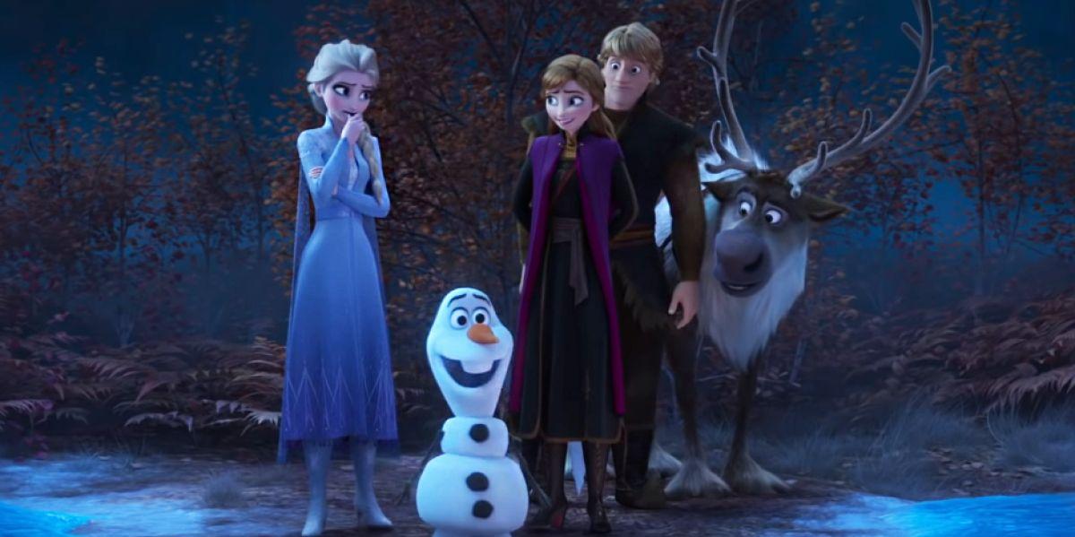 Elsa, Olaf, Anna y Kristoff en 'Frozen 2'