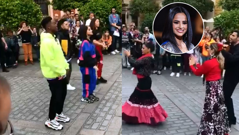 Becky G reta a una batalla de baile a unas bailaoras de flamenco en Sevilla