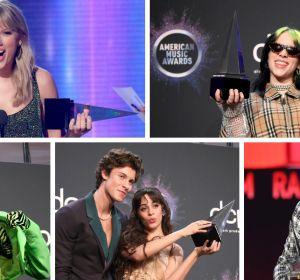 Taylor Swift, Billie Eilish, Lil Nas X, Shawn Mendes, Camila Cabello y Post Malone, premiados en los AMAs 2019