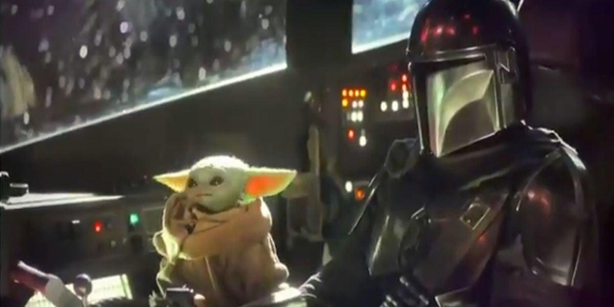 Baby Yoda en la nave