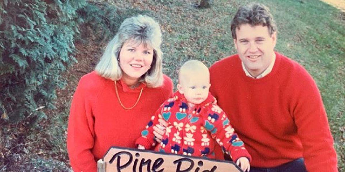 Taylor Swift, de pequeña con sus padres