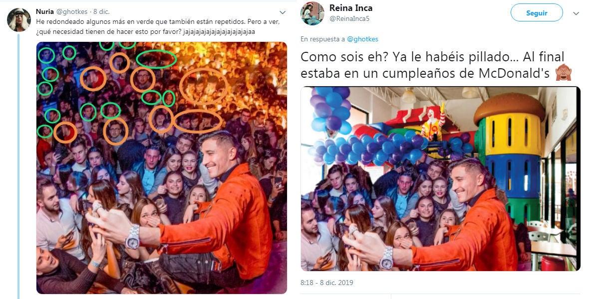 Cachondeo en Twitter con el montaje de Gianmarco para multiplicar al público