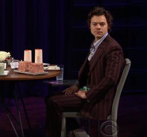 Kendall Jenner y Harry Styles en el programa 'The Late Late Show'