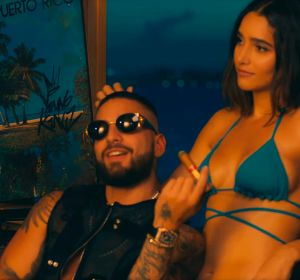 Maluma en el vídeo de La Playa Remix, de Myke Towers