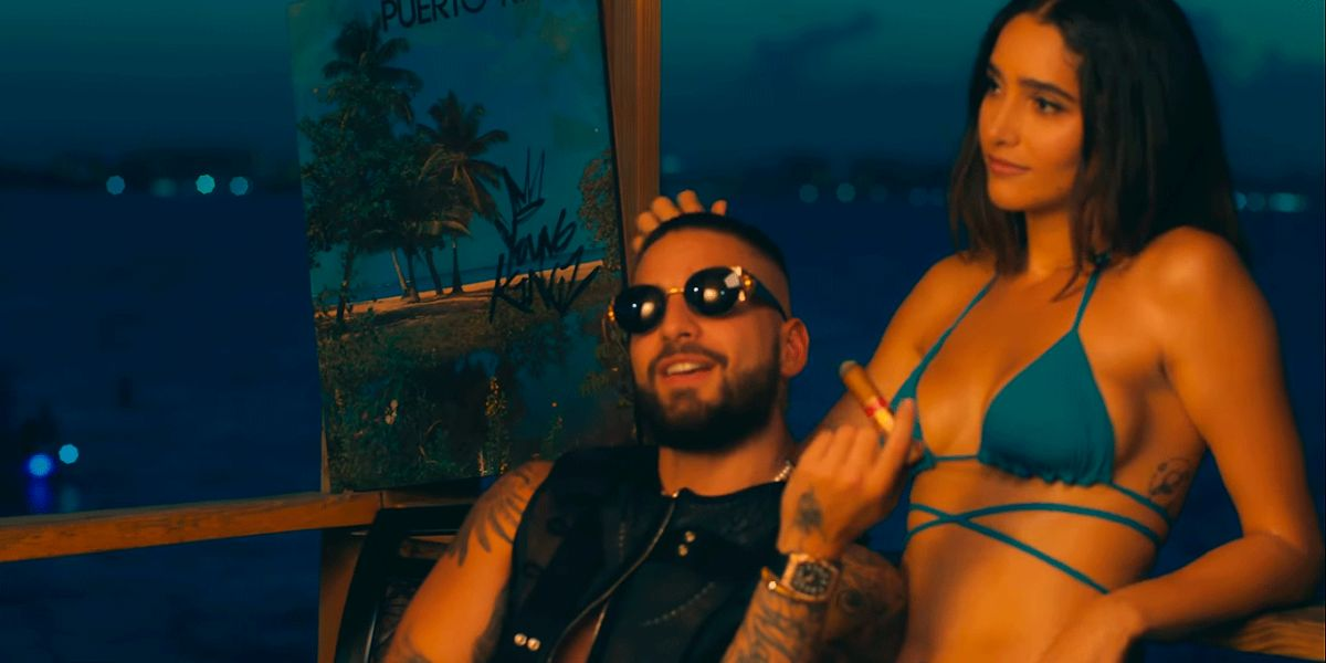 Maluma en el vídeo de La Playa Remix, de Myke Towers