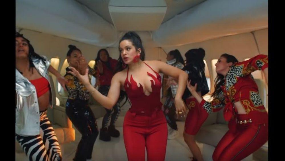 Rosalía en el vídeo 'Con Altura'