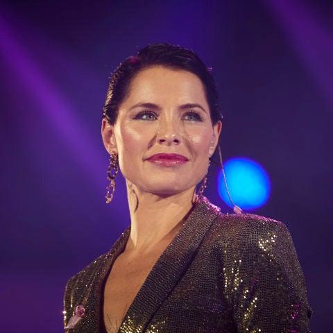 Soraya Arnelas durante una actuación