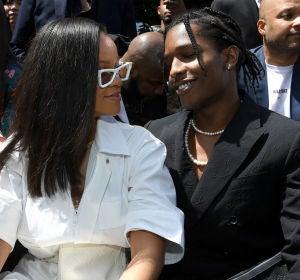 Rihanna y ASAP Rocky en la Paris Fashion Week