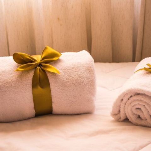 Juego de toallas de un hotel