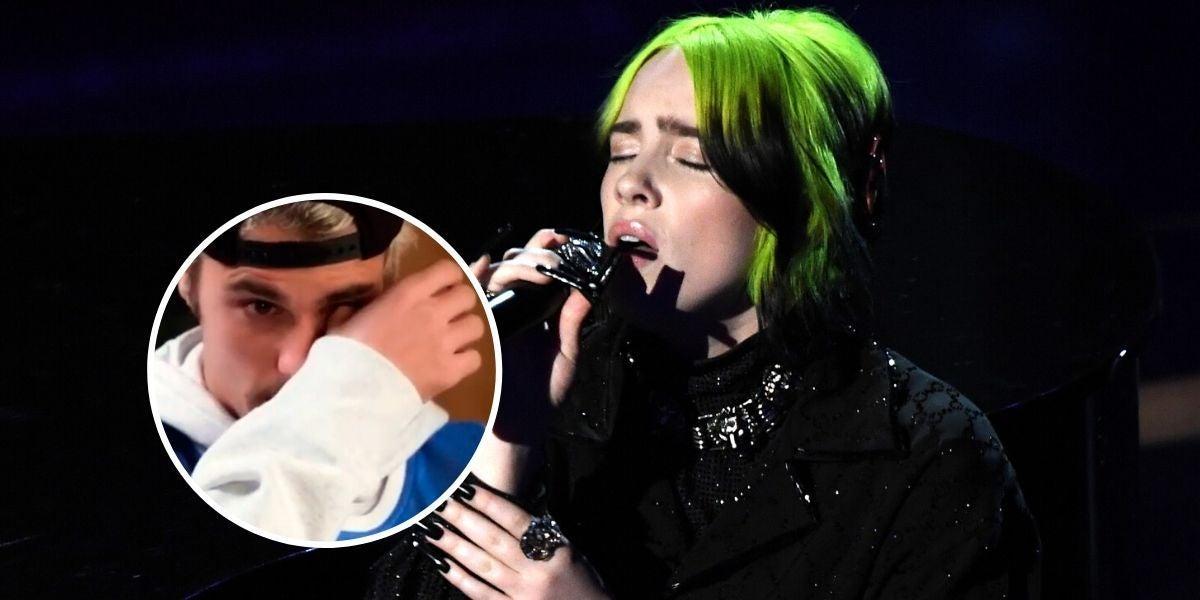 Justin Bieber llora al hablar de Billie Eilish