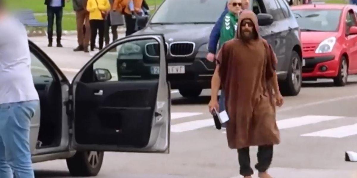 Pelea entre un taxista y un aficionado del Racing de Santander