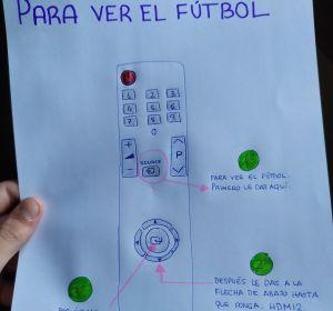 El dibujo para que su abuelo pudiese ver el fútbol que se hizo viral