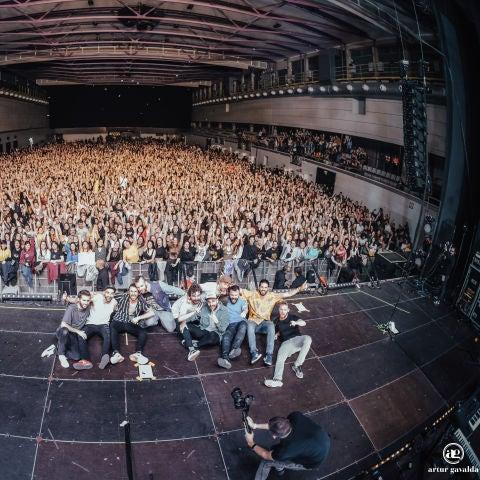 Arnau Griso en su concierto de fin de gira en Barcelona