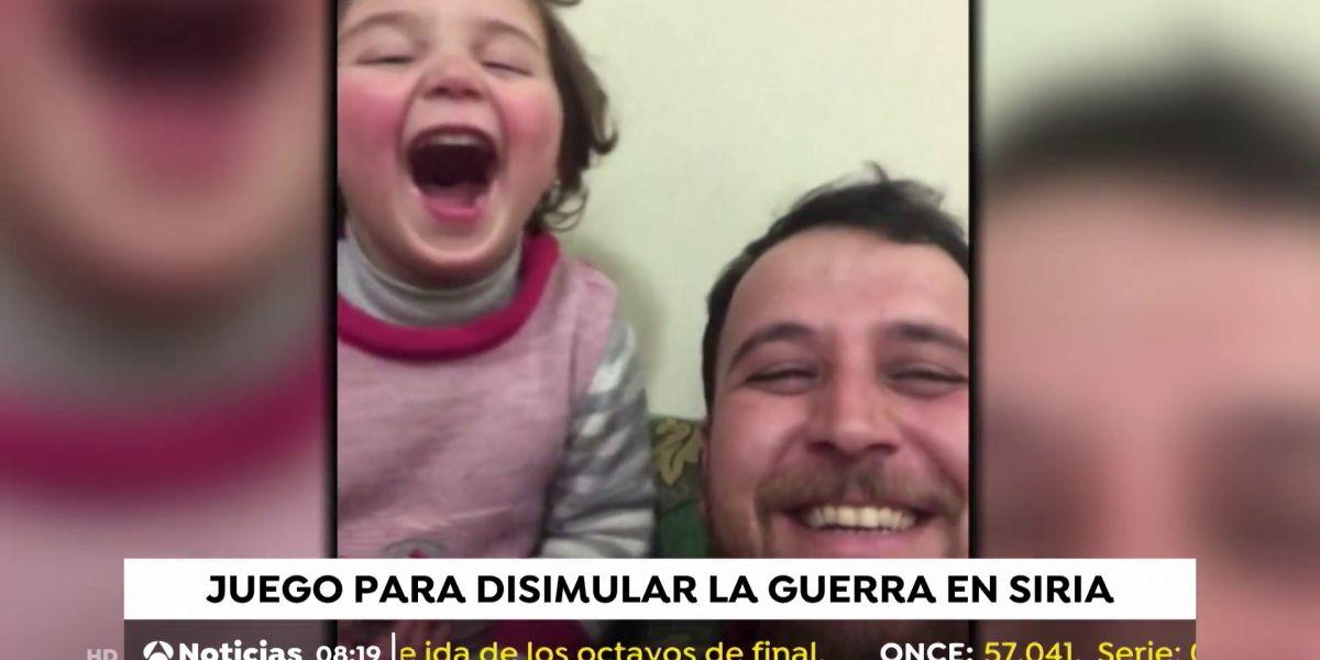 (18-02-20) Un padre sirio simula que las bombas son un juego para evitar un trauma a su hija pequeña