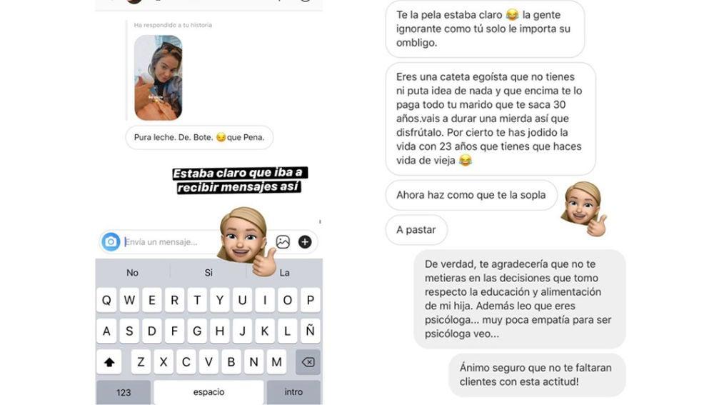 Laura Escanes publica los insultos recibidos a través de Instagram