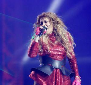 Paulina Rubio durante su actuación en la gala