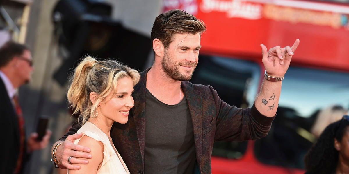 Elsa Pataky y Chris Hemsworth en la presentación de 'Once Upon a Time In Hollywood'