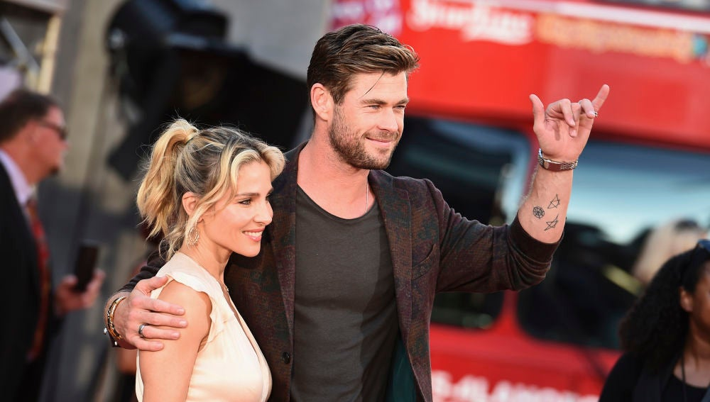 Elsa Pataky y Chris Hemsworth en la presentación de 'Once Upon a Time In Hollywood'