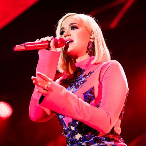Katy Perry durante una actuación
