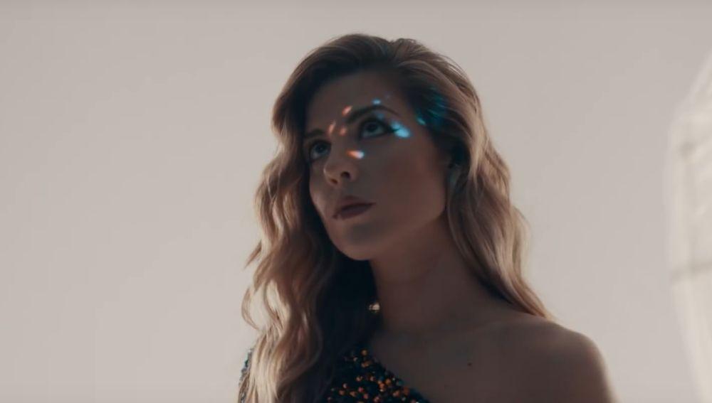 Miriam Rodríguez en el videoclip de 'Desperté'