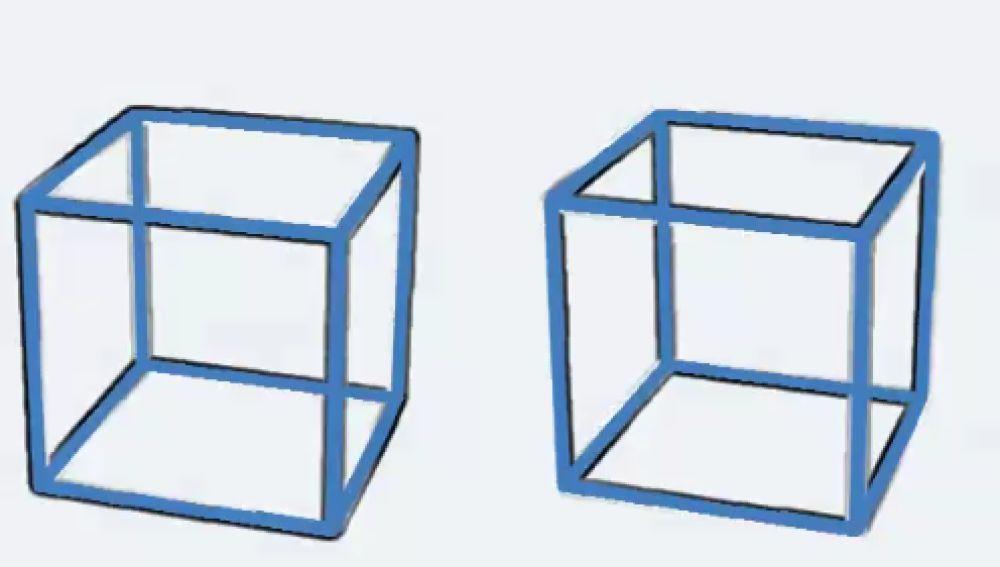 Imagen de la ilusión óptica de los cubos