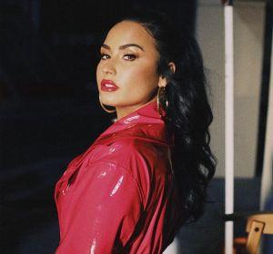 Demi Lovato durante el rodaje del videoclip 'I Love You'