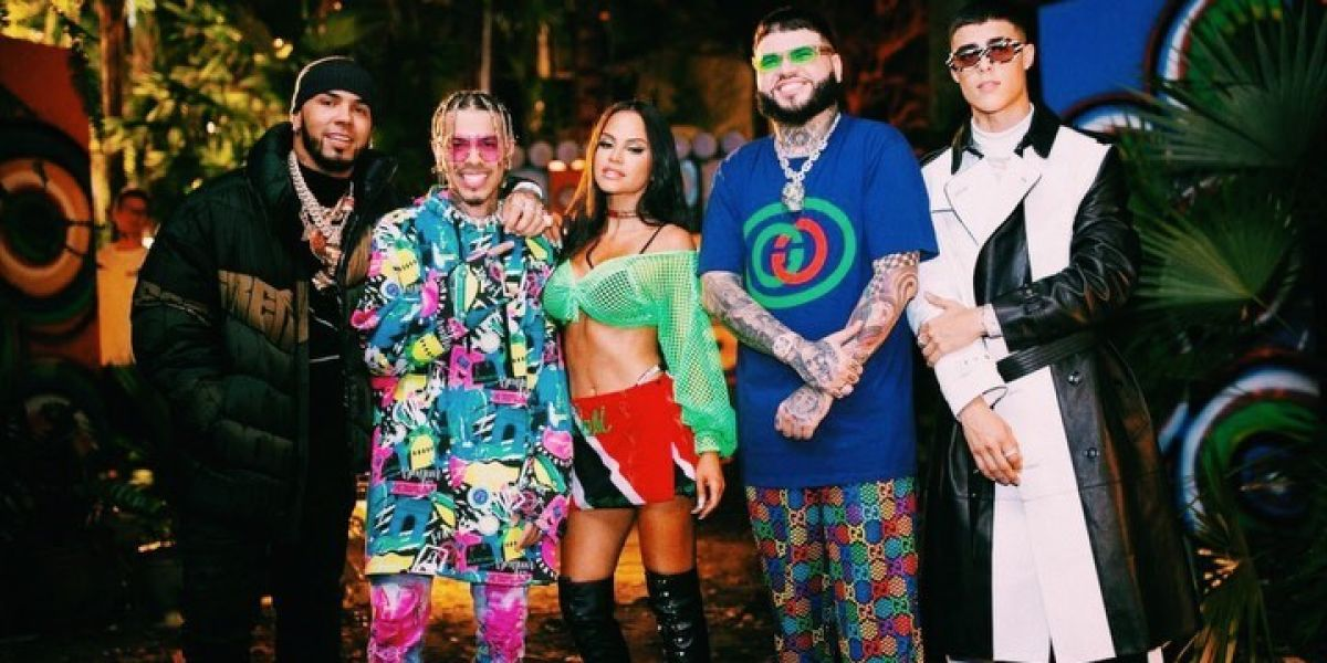 Anuel AA, Natti Natasha y Lunay se unen a Rauw Alejandro y Farruko para el remix de 'Fantasías'