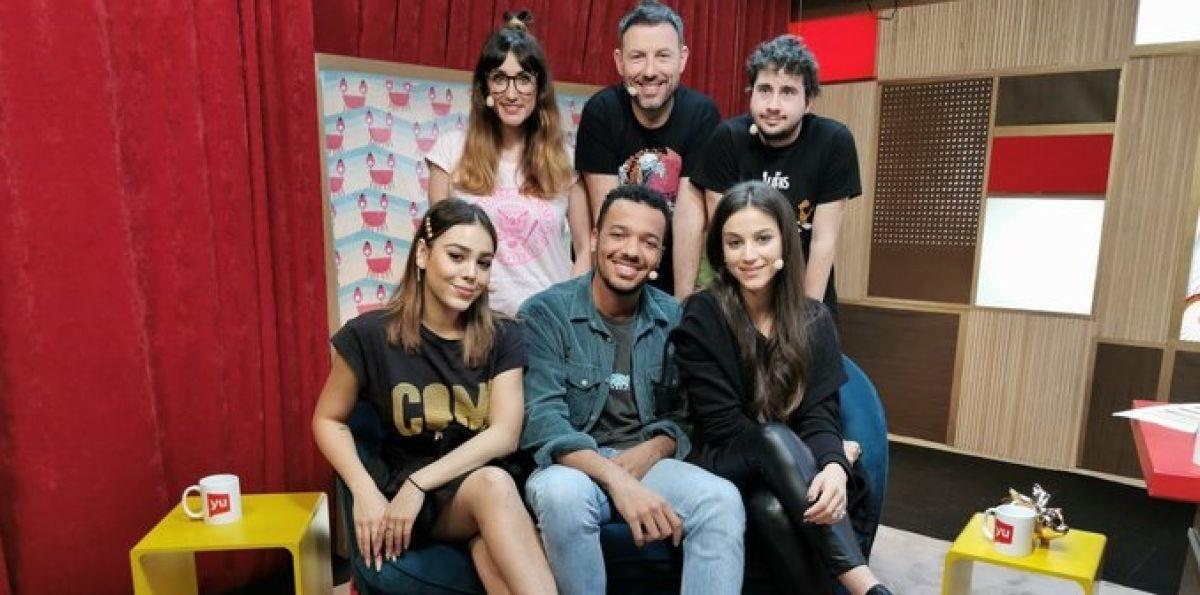 Claudia Salas, Danna Paola y Sergio Momo en 'yu'