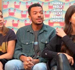 Danna Paola, Claudia Salas y Sergio Momo