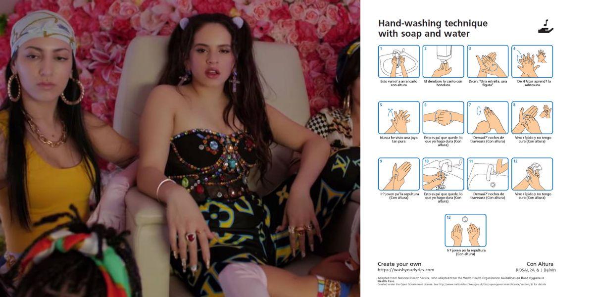 Lávate las manos al ritmo de 'Con Altura', de Rosalía