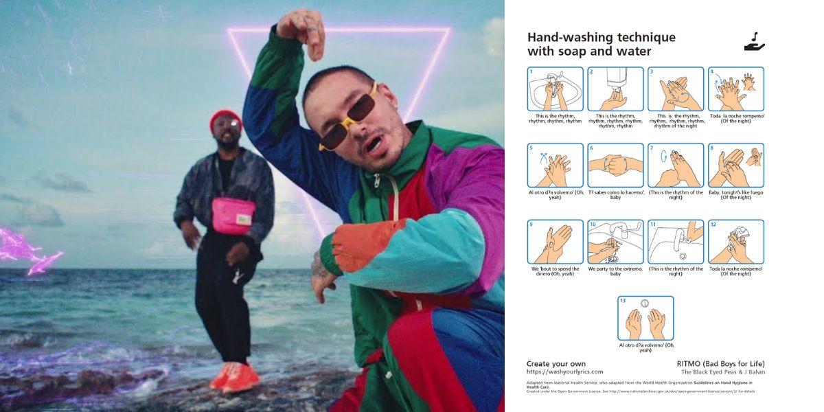 Lávate las manos con 'Ritmo', de Black Eyed Peas y J Balvin