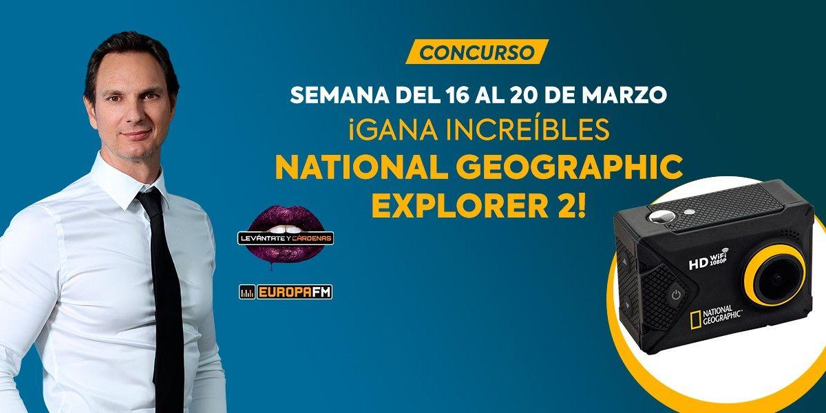 Gana fantásticas cámaras deportivas National Geographic Explorer 2 con Levántate y Cárdenas