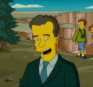 Tom Hanks, durante la película de Los Simpson
