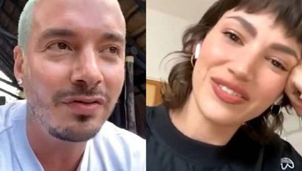 J Balvin y Úrsula Corberó durante su directo de Instagram