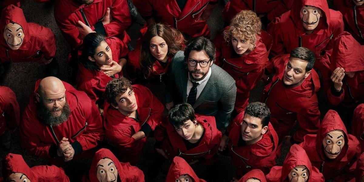 Reparto de 'La casa de papel' en una imagen promocional de la serie