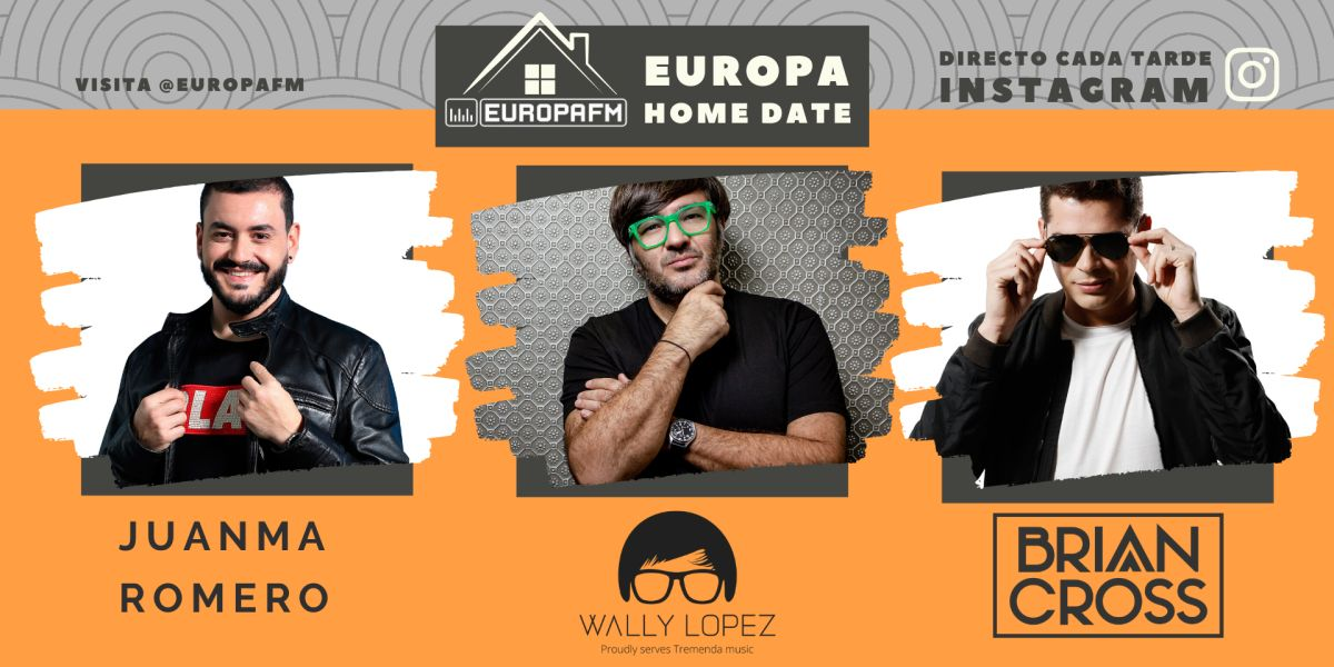 Juanma Romero, Wally Lopez y Brian Cross, en Europa Home Date