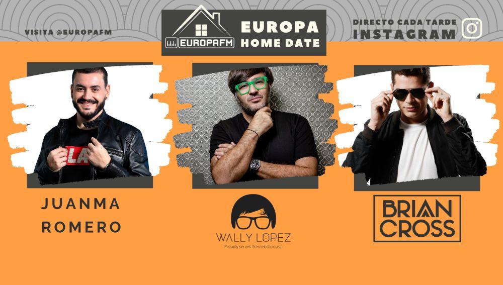 Juanma Romero, Wally Lopez y Brian Cross, en Europa Home Date