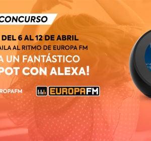 Baila y muévete en casa con Europa FM, ¡y llévate un fantástico Echo Spot con Alexa!