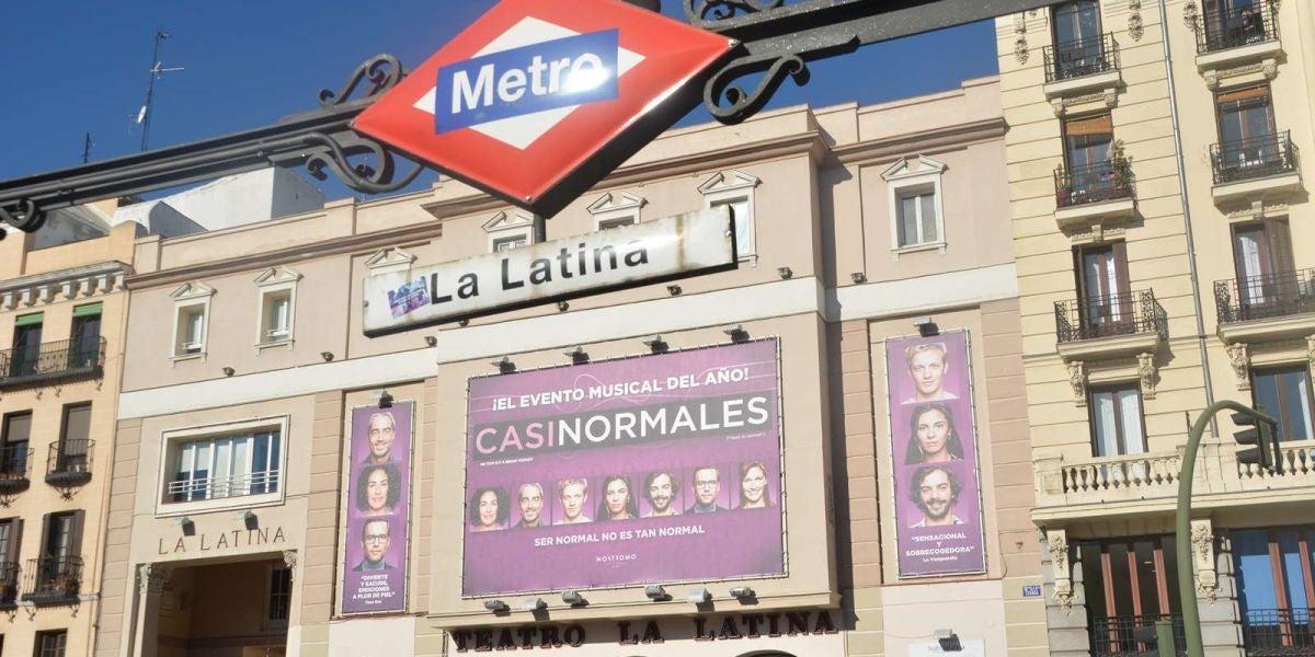 Fachada del Teatro de La Latina, en el centro de Madrid