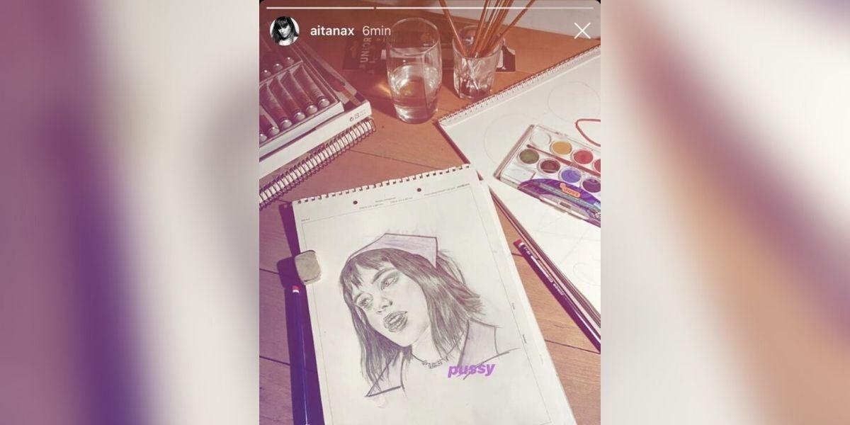 El dibujo de Aitana