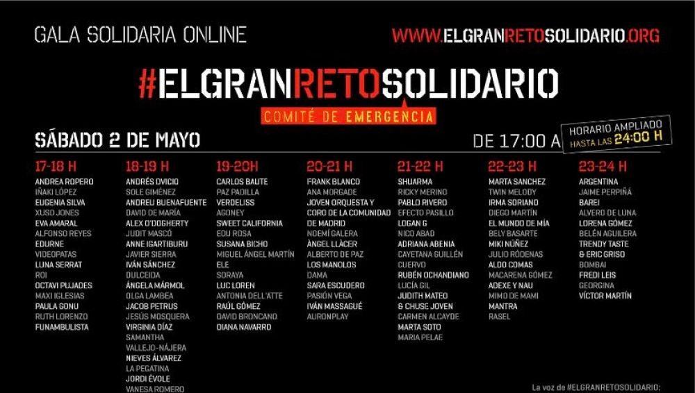 Cartel del evento El Gran Reto Solidario