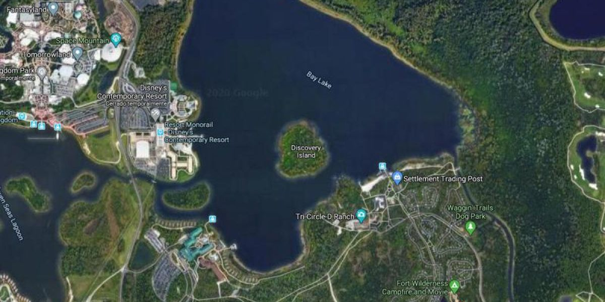 Discovery Island en Google Maps