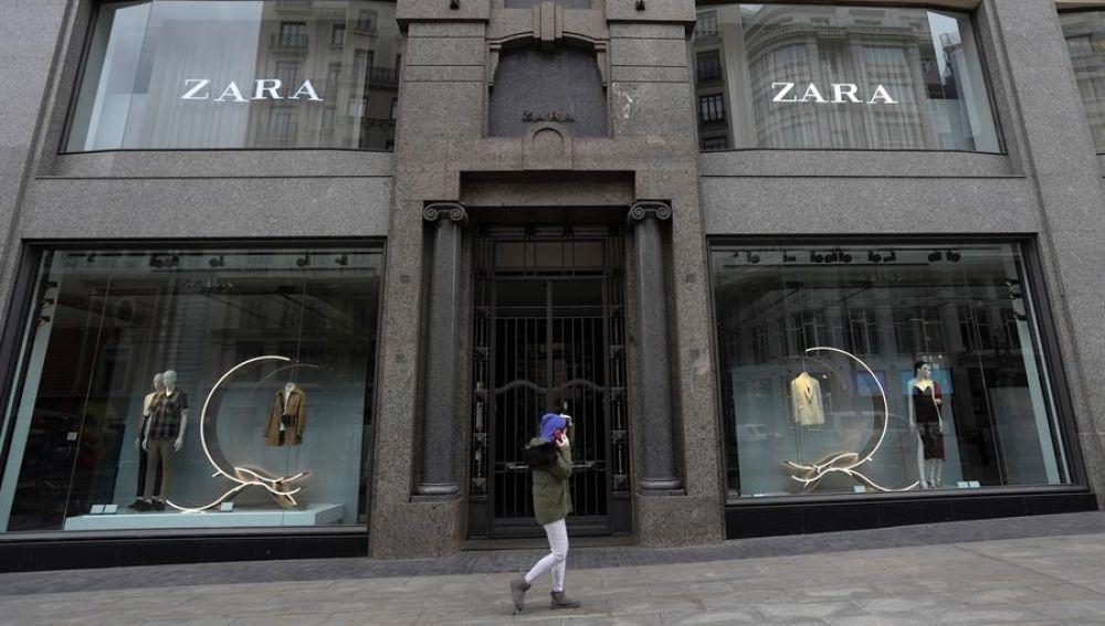 Tienda de ZARA en la Gran Vía de Madrid.