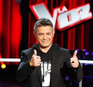 Alejandro Sanz en la presentación de La Voz 2020
