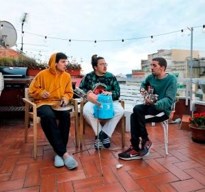 Rai Benet, Guillem Boltó y Klaus Stroink, los Stay Homas