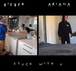 Justin Bieber y Ariana Grande en el vídeo 'Stuck with U'