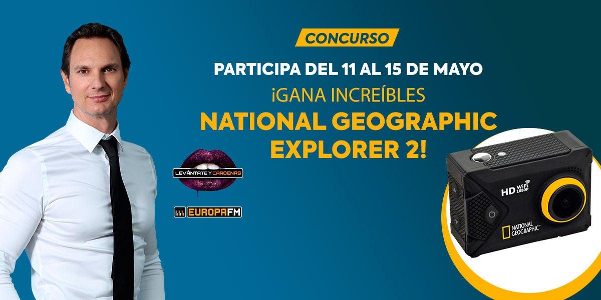 Consigue una fantástica cámara deportiva National Geographic Explorer 2 con Levántate y Cárdenas