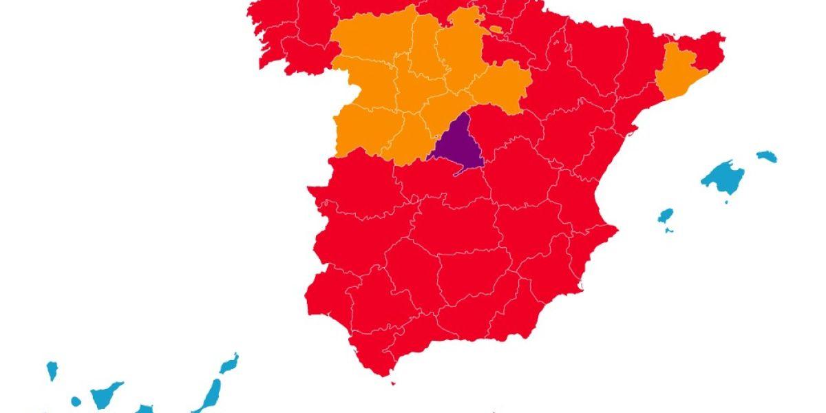 Mapa de la desescalada por fases en España
